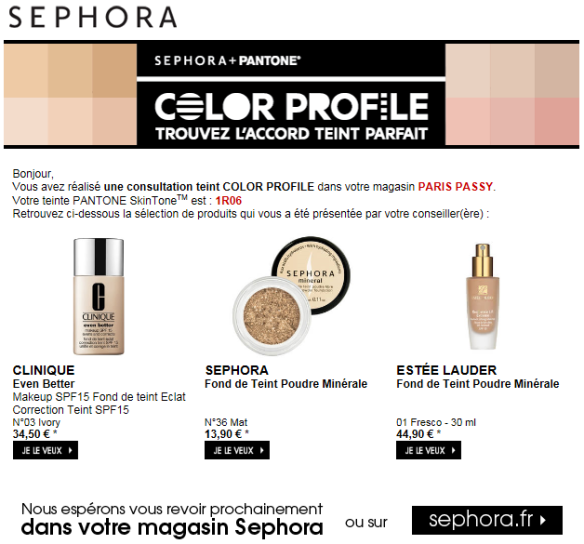 Sephora - Color Profile 2