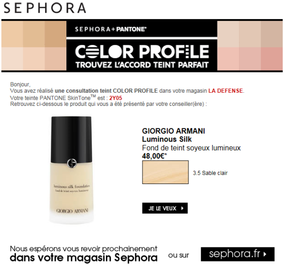 Sephora - Color Profile