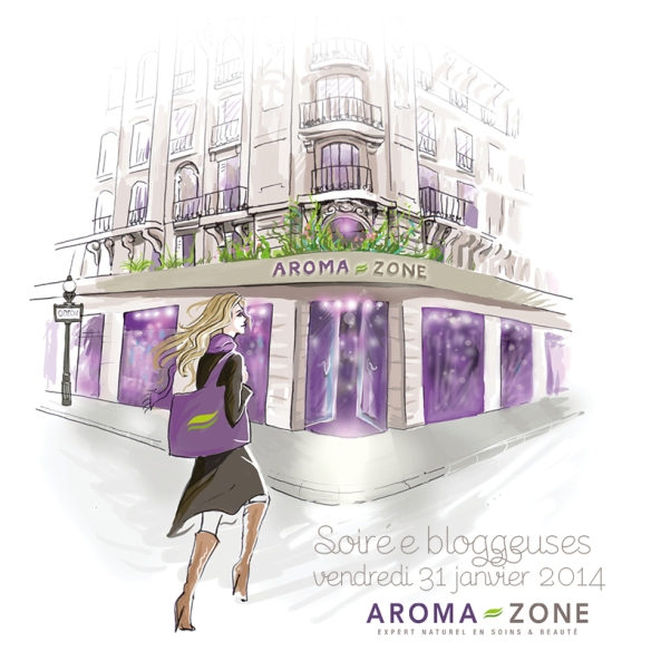 Invitation soirée blogueuses Aroma Zone