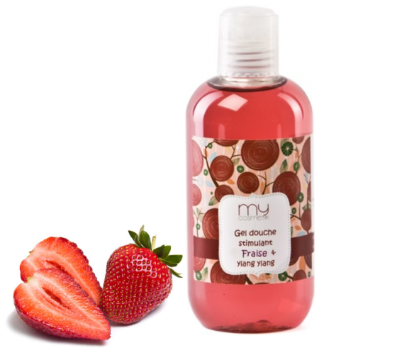 Mlle Délicieuse - Gel douche stimulant Fraise & Ylang Ylang MyCosmetik