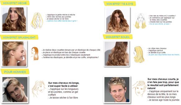 5 effets gele eclaircissante garnier - Gele Claircissante Garnier Sur Cheveux Colors