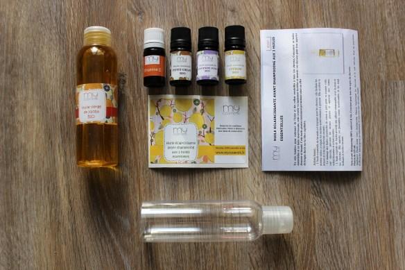 Coffret Huile éclaircissante avant-shampooing aux 3 huiles essentielles