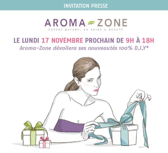 Aroma-Zone Invitation presse